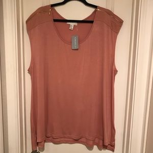 NWT Forever 21 Sleeveless Coral Top